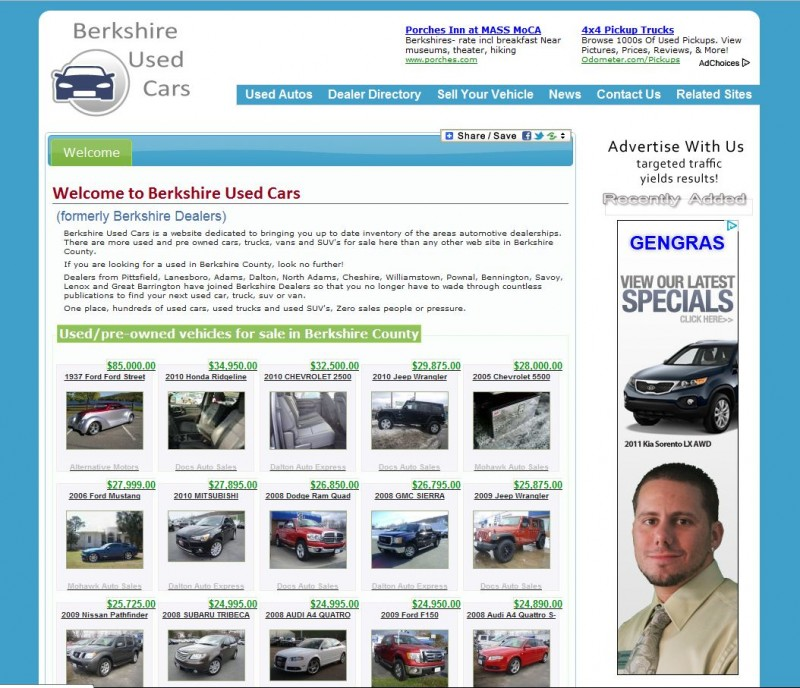 Used Cars Pittsfield Ma Automotive Websites - BerkSites - Berkshire Website Development and ...